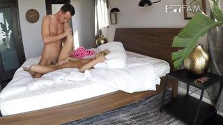 Tender stepsister has the incest fun with experienced stepbrother