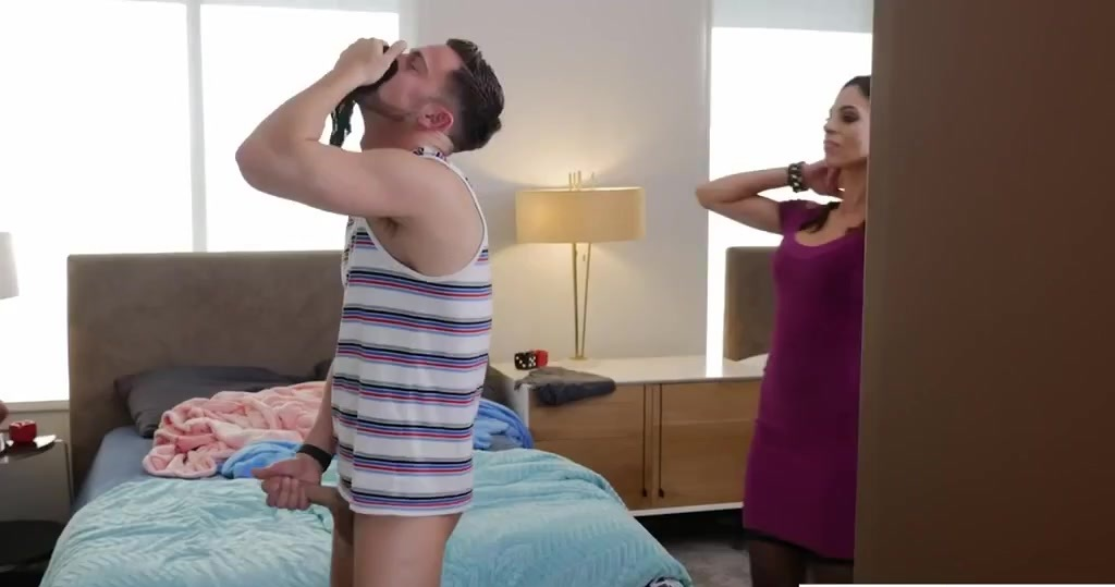 Hot Step Mom Jerks Off Son