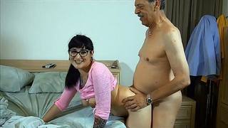 Alt granddaughter loves incest sex with her always excited grandpa