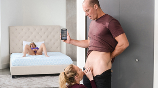 Excited MILF punishes daughter and guy by dragging them into incest sex