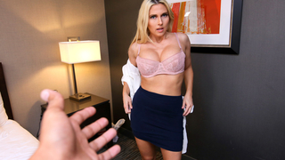Entrancing blonde and son enjoy incest sex in the hotel room