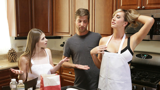 Heat is a good reason for woman to have incest threesome with daughter