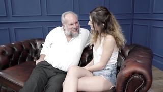 Grandpa's flirt with comely granddaughter leads to incest lovemaking