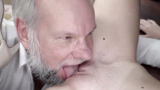 Handsome grandpa pleases granddaughter with incest XXX cunnilingus