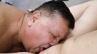 Pussy of granddaughter is ready for incest so XXX nailing by grandpa starts