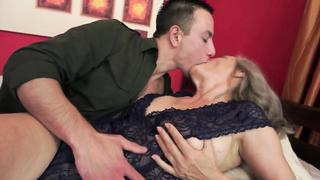 Mature grandma fucked after sucking cock own grandson