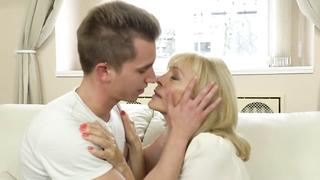 Horny Grandma Rides Young Studs Throbbing Cock Own Grandson