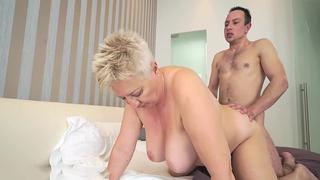 Kinky grandma seduces horny grandson and fucks him wildly