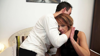 Bigass lovely  grandma anally screwed in reverse cowgirl own grandson