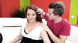 Lusty grandma gets pussy pounded by big fat dick own grandson