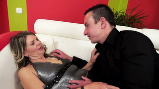 Hairy grandma banged in missionary after amazing blowjob own grandson