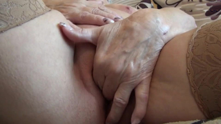 Very old grandma and her saggy tits selfie for grandson