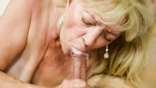 Grandma  screwed hard by grandson in reverse cowgirl position