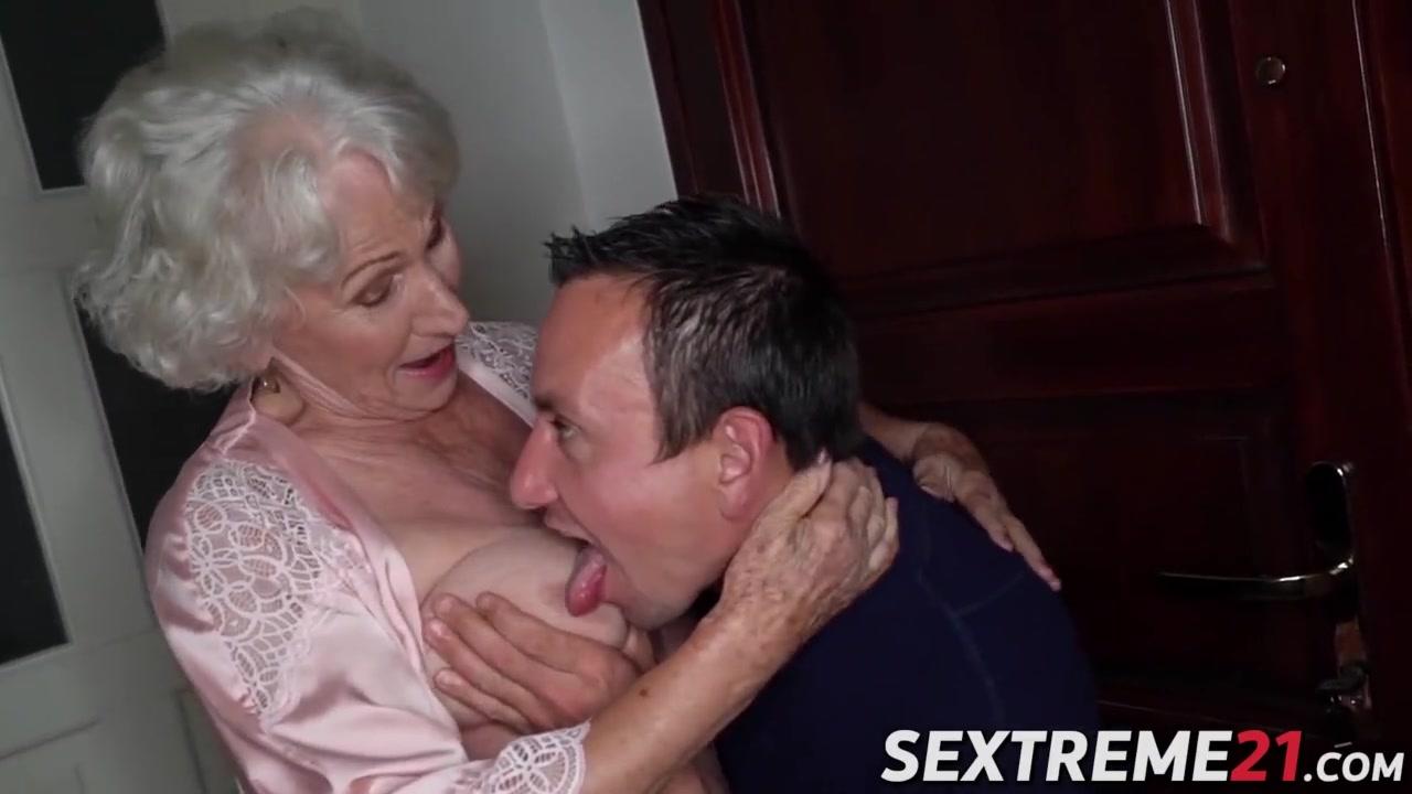 Grandma suck and granny fuck young grandson