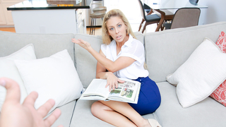 Blonde mother with blue eyes loves incest and her son