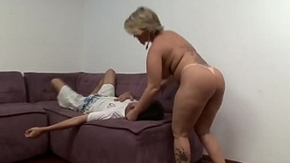 Sultry mom dominates over her son with some kinky incest facesitting