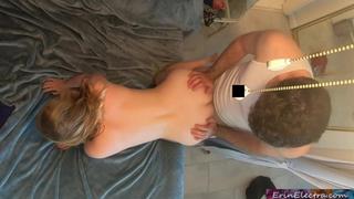 Nephew caught aunt masturbate and fucks her