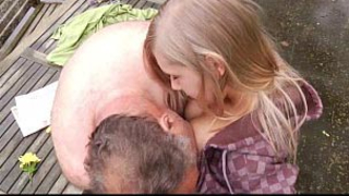 Incredible incest sex between seductive granddaughter and old bastard