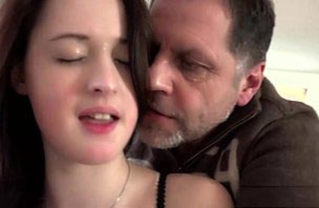 Stunning big tits granddaughter fucks old man cums in her mouth hardcore