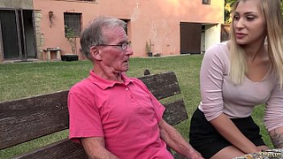 Granddaughter hot ass, anal fucked by horny grandpa - Real Incest