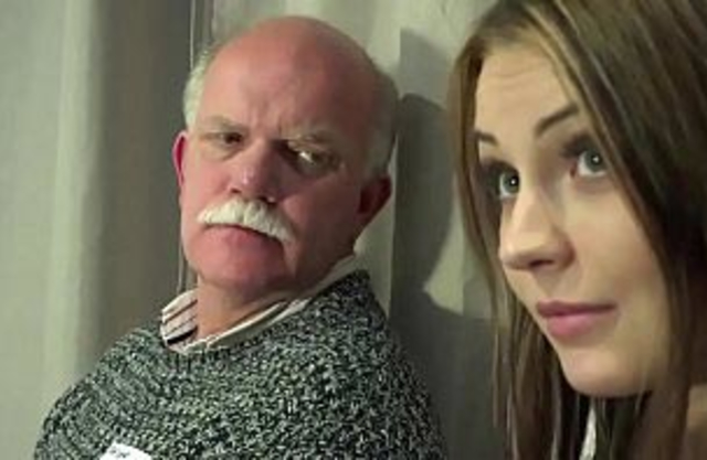 Grandpa fucking fingering pussy own granddaughter while mom's in the shower
