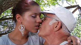 Big dick grandpa fucks his younger sexy granddaughter - Taboo XXX