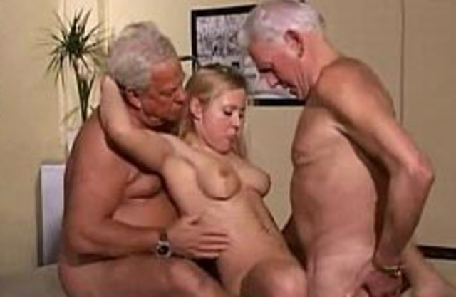 Man joins grandpa and they have an incest threesome with granddaughter