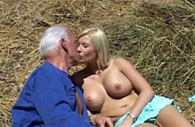 Buxom granddaughter has outdoor incest action with her grandpa