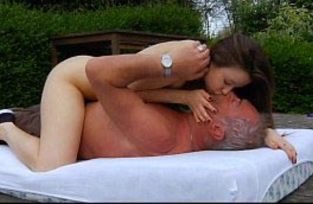 Horny granddaughter & grandpa have incest sex outdoor on picnic