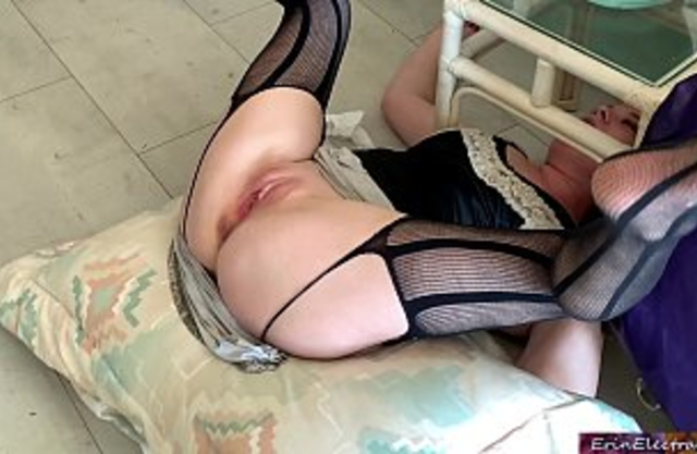 Hot mom get stuck under the table while getting in get fucked by her son