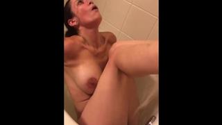 Depraved Mom lets me record her in bathtub as she masturbate