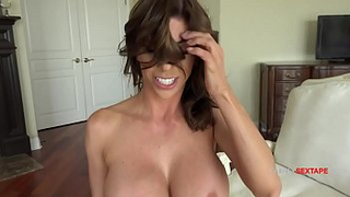 Voluptuous and shy mom gets blackmailed by son to make incest porn tape