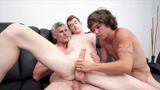 Twink Sons And Dad Family Threesome With Hot Young Neighbor Boy