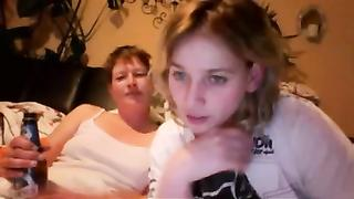 Lesbian webcam video of winsome daughter and mom with short hair