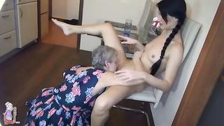 Grandma seduces granddaughter  into Fucking Her - Grandma's Immoral Sexual Urges