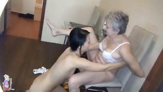Granddaughter  seduces grandma into fucking her-Granddaughter's Immoral Sexual Urges