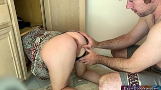 Mom gets stuck in a wardrobe and own son fucked her - INCEST XXX