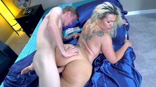 Big ass blonde mom always hungry for a hard cock own son