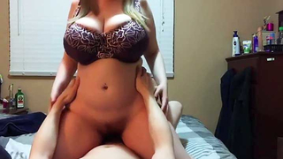 Son is addicted is moms huge milky boobs