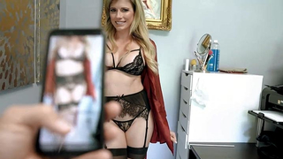 Son film his real moms dripping pussy in sexy lingerie
