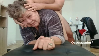 Lewd grandma 80yo fucking with her stepson