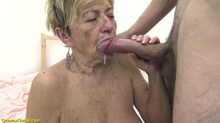 Lewd 92 Years old Grandma Banged by her Toyboy