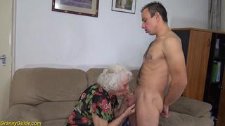 Chubby hairy 89 years Grandma rough fucked